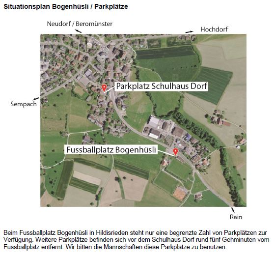 Situationsplan Bogenhüsli